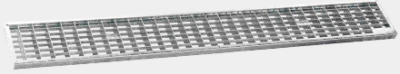 Mesh channel grate