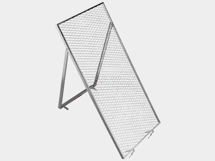 Screen for wheelbarrow